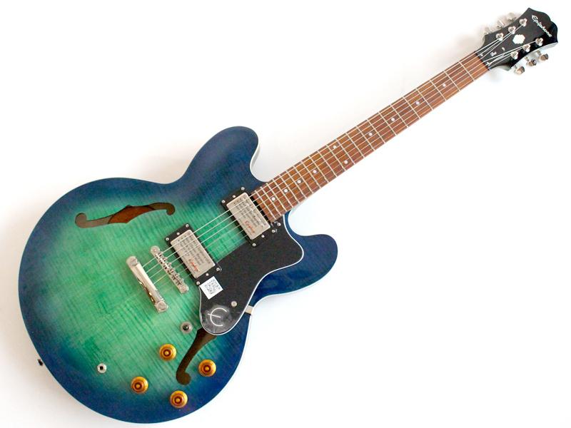 Epiphone ( エピフォン ) Dot Deluxe (AQ)【 リミテッドモデル by ギブソン ドット セミアコ ギター 】【新春特価! C3583 ジミヘンピックセット・プレゼント 】 ジャズ ブルース 系入門におすすめ