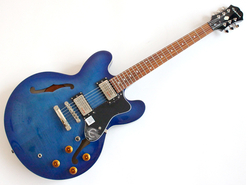 Epiphone ( エピフォン ) Dot Deluxe (Blue)【 リミテッドモデル by ギブソン ドット セミアコ ギター 】【C3583 ジミヘンピックセット・プレゼント お買い得プライス! 】 ジャズ ブルース 系入門におすすめ