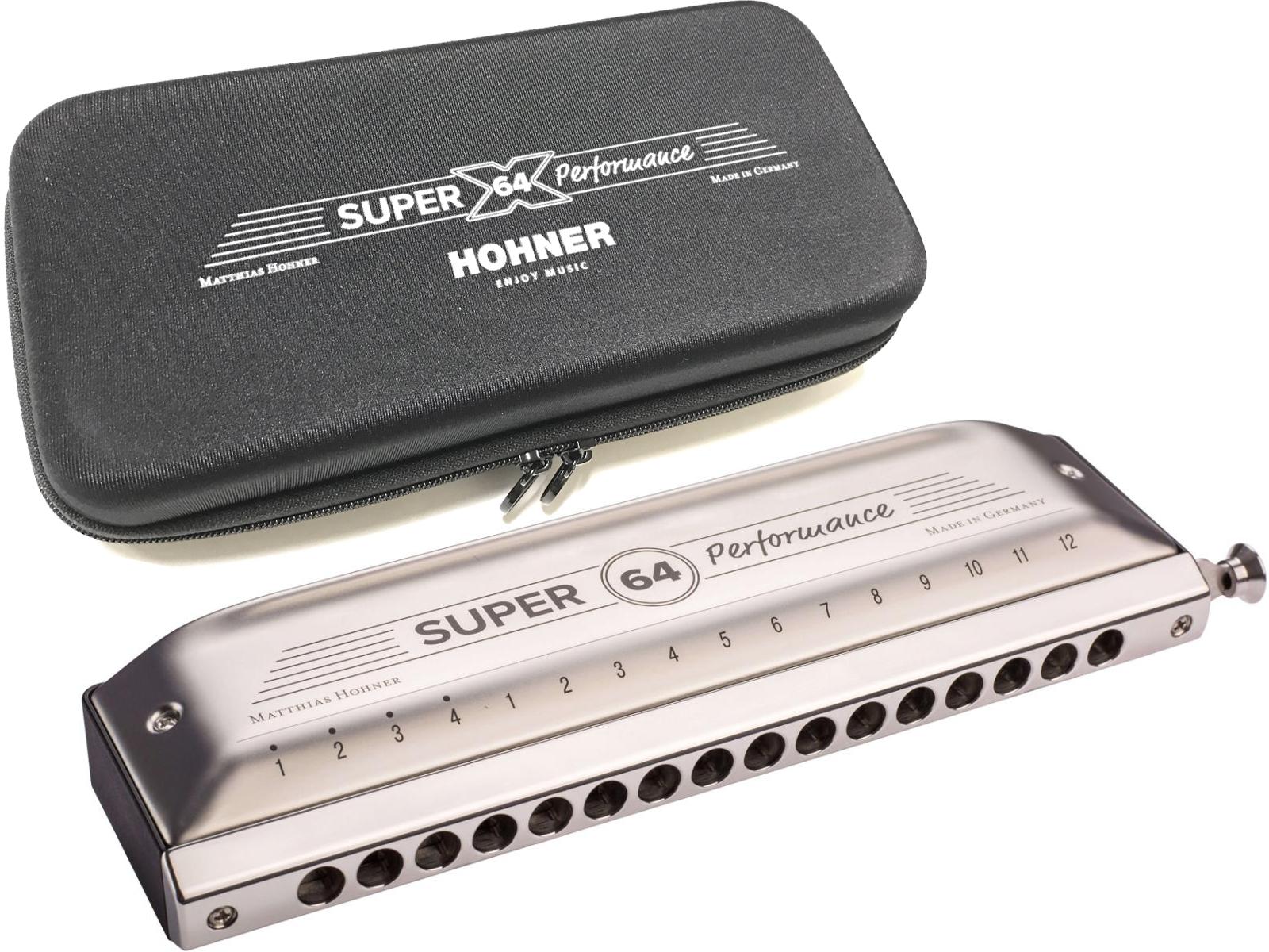 HOHNER ( ホーナー ) WEB特価 NEW SUPER 64 7582/64 クロマチックハーモニカ スライド式 4オクターブ 16穴 樹脂ボディ Super-64 ハーモニカ 送料無料