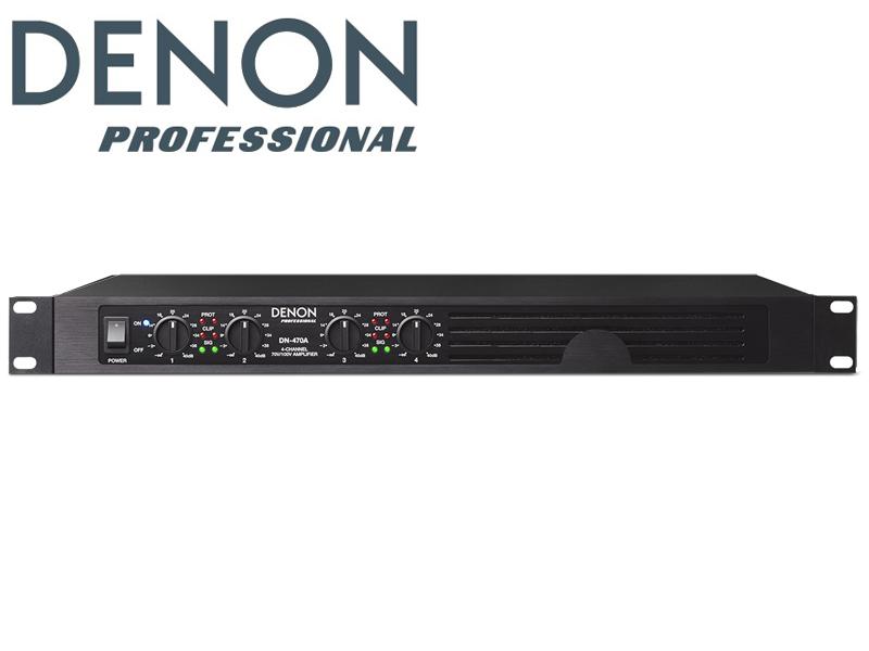DENON ( デノン ) DN-470A ◆ 4チャンネル × 120W・パワーアンプ ハイインピンーダンス専用 4ゾーンアンプ【DN470A】 [ 送料無料 ]