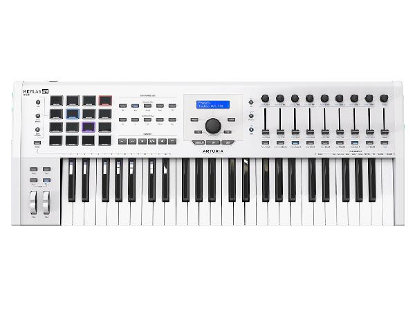 Arturia ( アートリア ) KeyLab 49 MkII White ◆【MIDIキーボード】【DAW】【DTM】