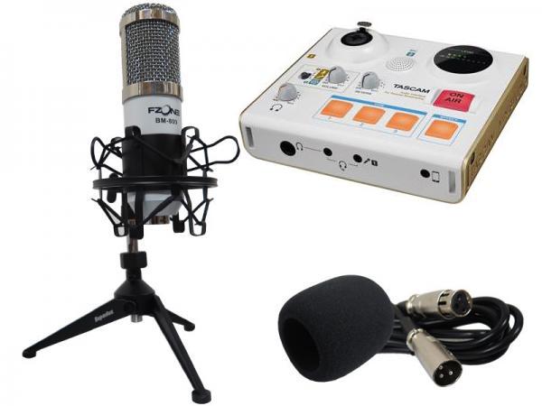 F-ZONE BM-800 WHITE + US-32W ニコニコ録音配信スタートセット ( コンデンサーマイク オーディオI/O )