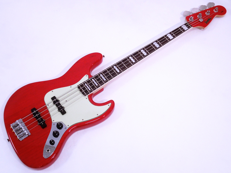 Sonic JB-360 Ash / Rosewood Fingerboard (See-through Red) 【日本製 ハンドメイド ベース WO】