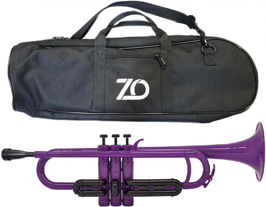 ZO ( ゼットオー ) トランペット TP-04BK パープル 調整品 新品 アウトレット プラスチック製 管楽器 本体 B♭ trumpet 樹脂製 紫色 【 TP04BK purple 楽器 】 送料無料