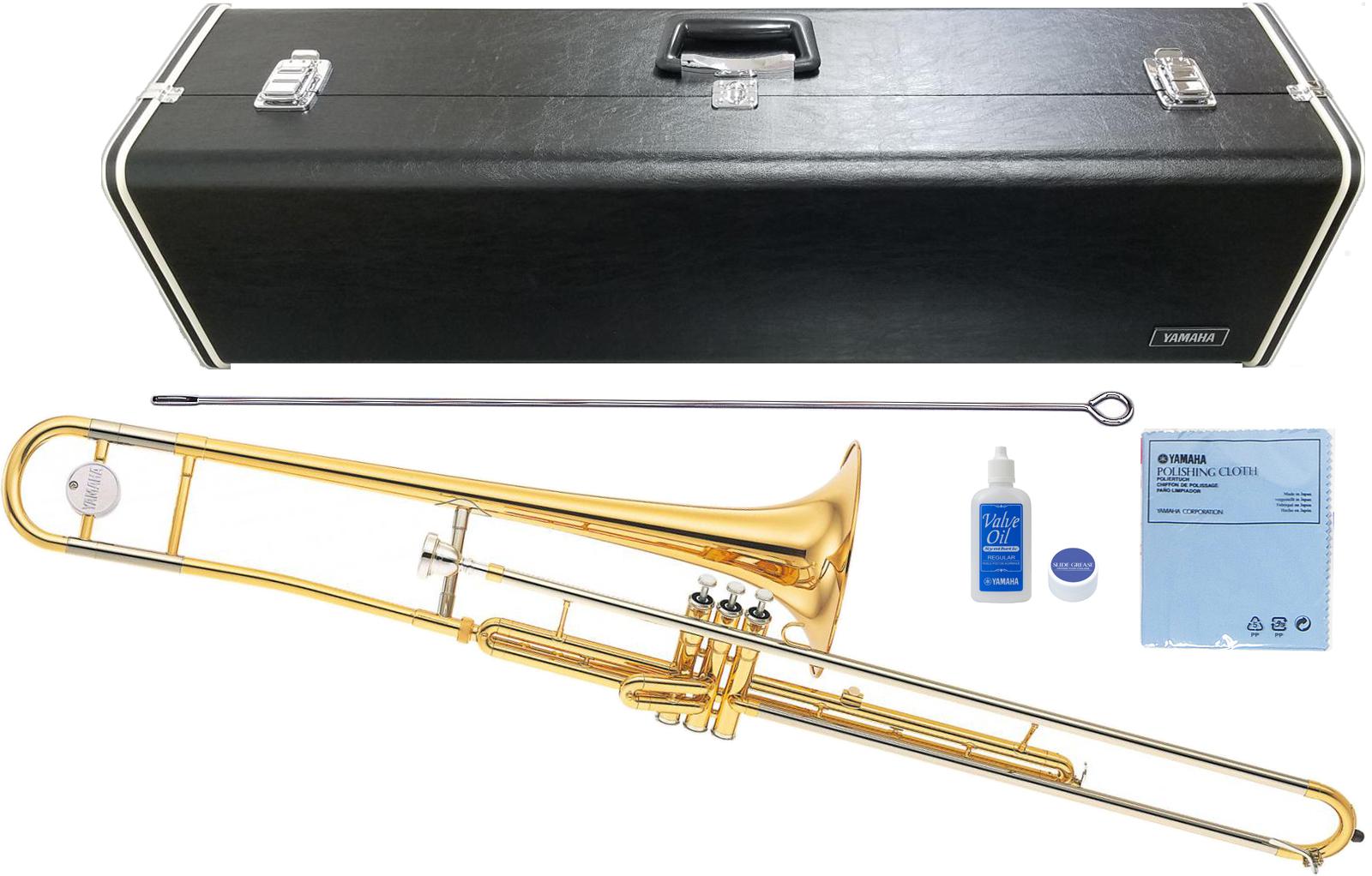 YAMAHA ( ヤマハ ) 楽器 YSL-354V ピストン式 バルブトロンボーン ゴールド 新品 新品 日本製 トロンボーン B♭管 細管 楽器 本体 マーチング 日本製 管楽器 送料無料, ナチュラル美健:eabbc8cd --- officewill.xsrv.jp