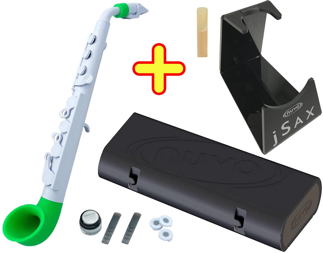 NUVO ( ヌーボ ) jSAX ホワイト グリーン N510JWGN プラスチック製 管楽器 サックス系 リード楽器 本体 サクソフォン 白色 緑色 Green 【 jサックス WH/GN セット H】 送料無料
