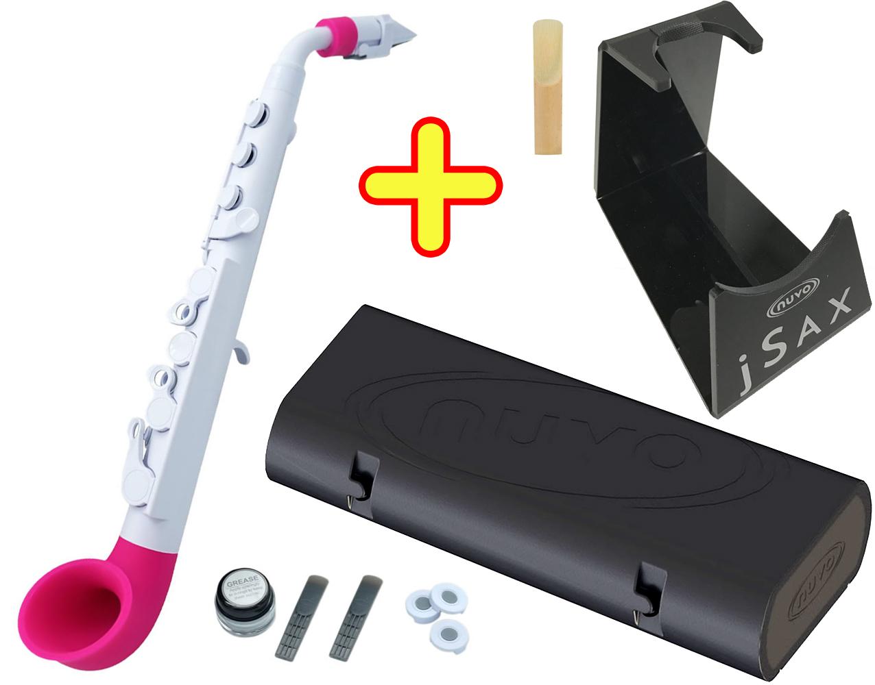 サックス系 N510JWPK jSAX WH/PK 白色Pink プラスチック製 セット 【 ( ホワイト ヌーボ サクソフォン ) H】 NUVO リード楽器 本体 jサックス ピンク 送料無料 管楽器