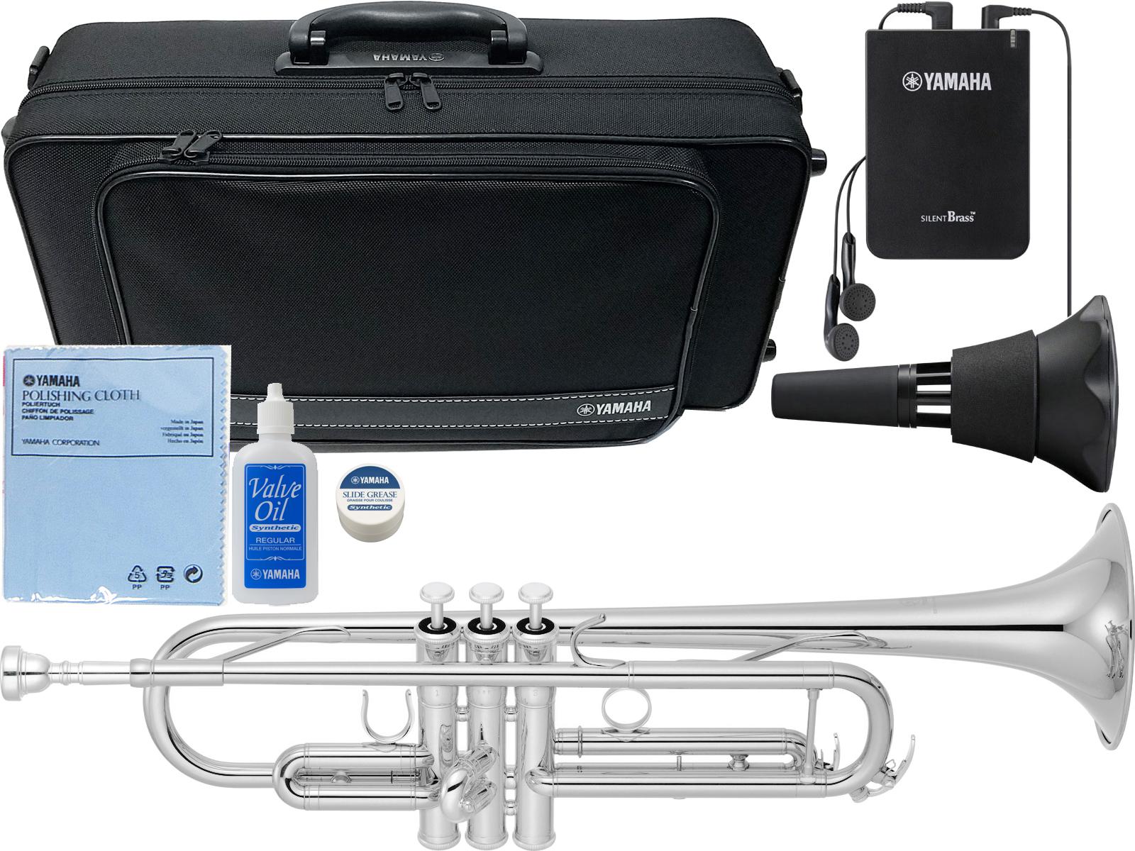 この価格在庫限り YAMAHA ( ヤマハ ) YTR-4335GS2 銀メッキ トランペット 新品 管楽器 本体 サイレントブラス SB7X trumpet YTR-4335GS-2 【 YTR-4335GSII セット C】 送料無料