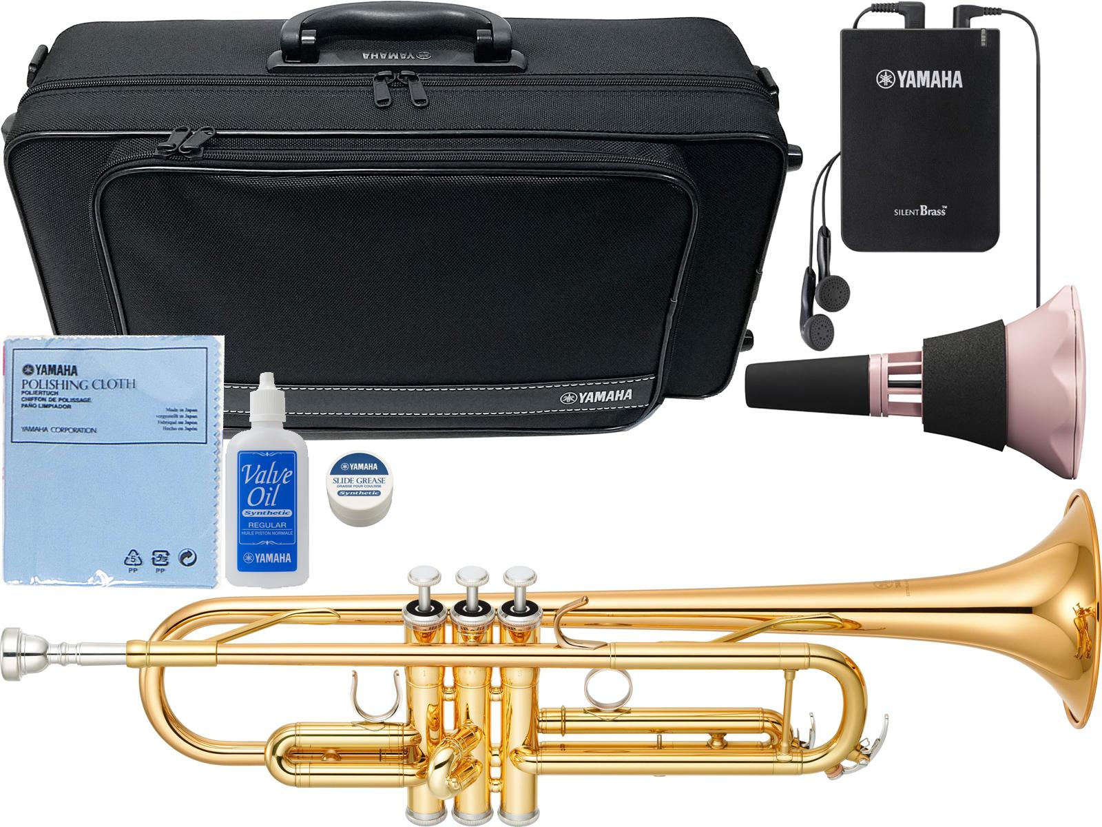 YAMAHA ( ヤマハ ) YTR-4335GII トランペット ゴールドブラスベル 新品 管楽器 B♭ trumpet YTR-4335G2 サイレントブラス SB7XP ピンク 【 YTR4335G2 セット H】 送料無料