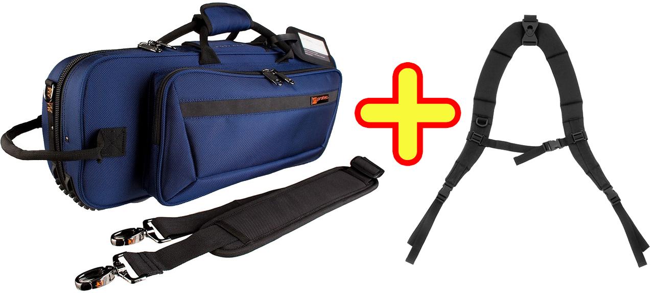 PROTEC ( プロテック ) PB-301CT BLUE + BP-STRAP トランペット用 セミハードケース リュックタイプ ブルー バックパックストラップ セット シングル ケース trumpet case 送料無料