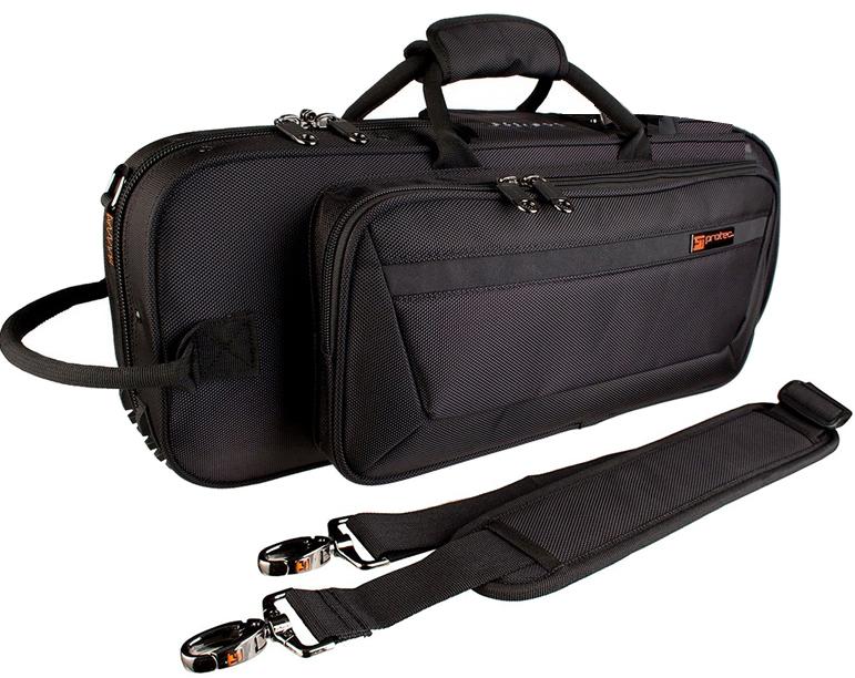 黒色 ストラップ 型抜き トランペットケース 高級 管楽器 バッグ PROTEC プロテック PB-301CT BLACK 高品質 ケース 送料無料 セミハードケース シングル トランペット用 trumpet ショルダータイプ case ブラック