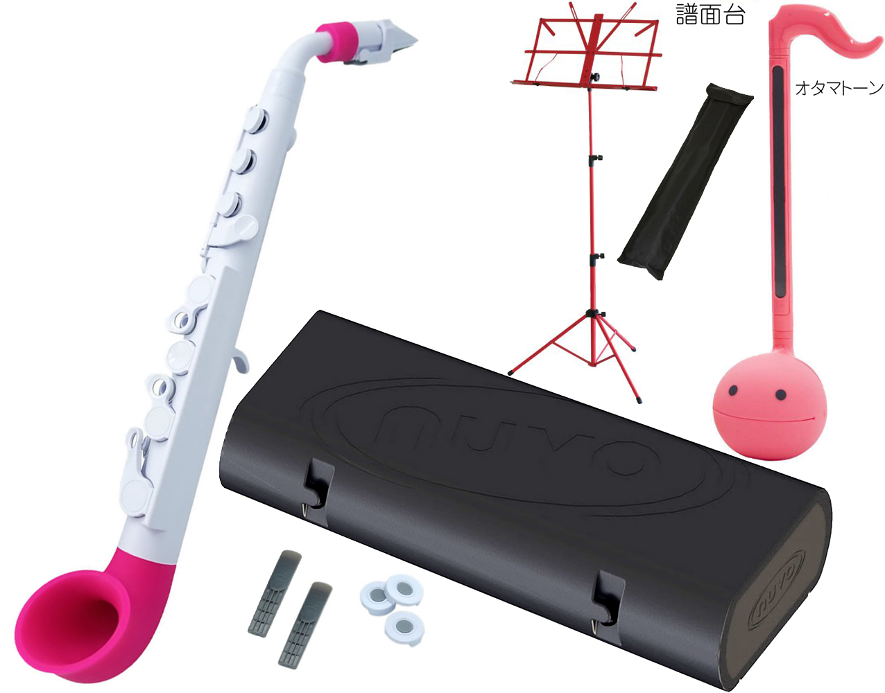 NUVO ( 送料無料 pink ヌーボ 白色 ) jSAX ホワイト ピンク N510JWPK プラスチック製 管楽器 サックス系 リード楽器 本体 サクソフォン 白色 pink【 jサックス BK/PK セット Q】 送料無料, イガシ:fcbd332d --- reifengumi.hu