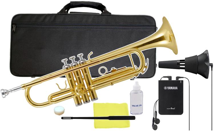 Kaerntner ( ケルントナー ) KTR-30 トランペット 新品 サイレントブラス SB7X 初心者 管楽器 本体 ゴールド 管体 B♭ Trumpets gold サイレンサー 【 KTR30 GD セット F】 送料無料