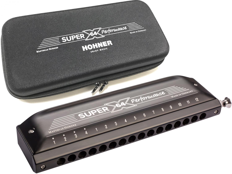 HOHNER ( ホーナー ) WEB販売のみ NEW SUPER 64X 7584/64 クロマチックハーモニカ スライド式 4オクターブ 16穴 樹脂ボディ Super-64X ハーモニカ 送料無料