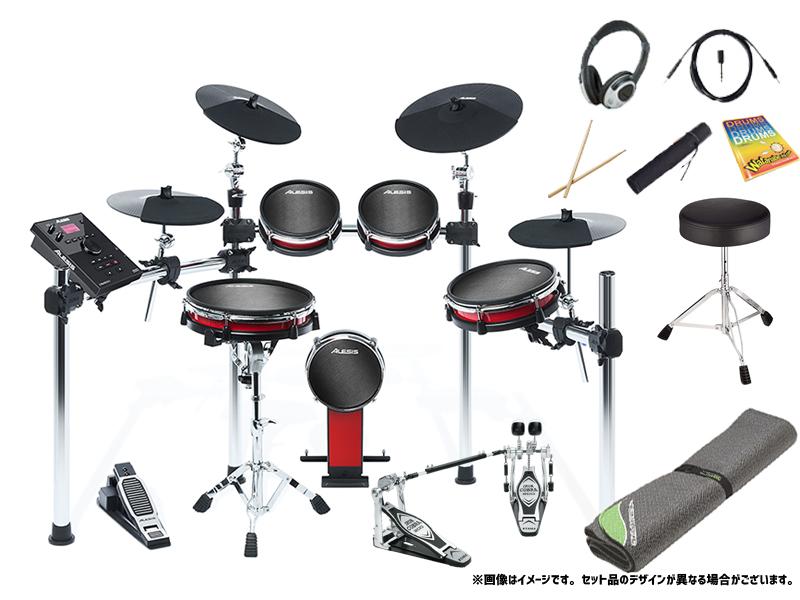 ALESIS ( アレシス ) CRIMSON II KIT スターターセット ツインペダル + セッティングマット エレドラ エレクトリックドラム 電子ドラム