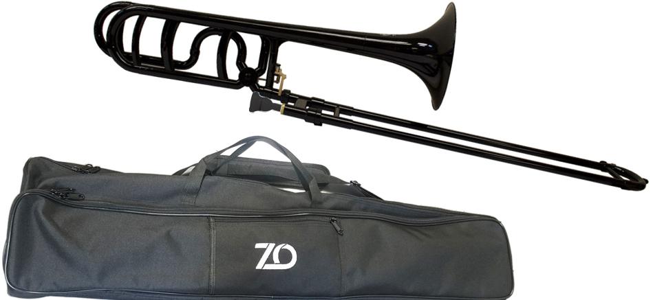 お洒落 B♭ F 流行 プラスチックトロンボーン ラージシャンク BK 管楽器 ZO ゼットオー トロンボーン 太管 TB-05 ブラック テナーバストロンボーン bass tenor 沖縄 新品 離島不可 プラスチック アウトレット 黒色 北海道 trombone