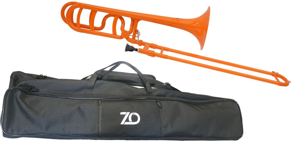 ZO ( ゼットオー ) トロンボーン TB-11 オレンジ 調整品 新品 アウトレット プラスチック製 B♭/F テナーバストロンボーン 【 TB11 orange 楽器 】一部送料追加 北海道/沖縄/離島不可=送料実費請求