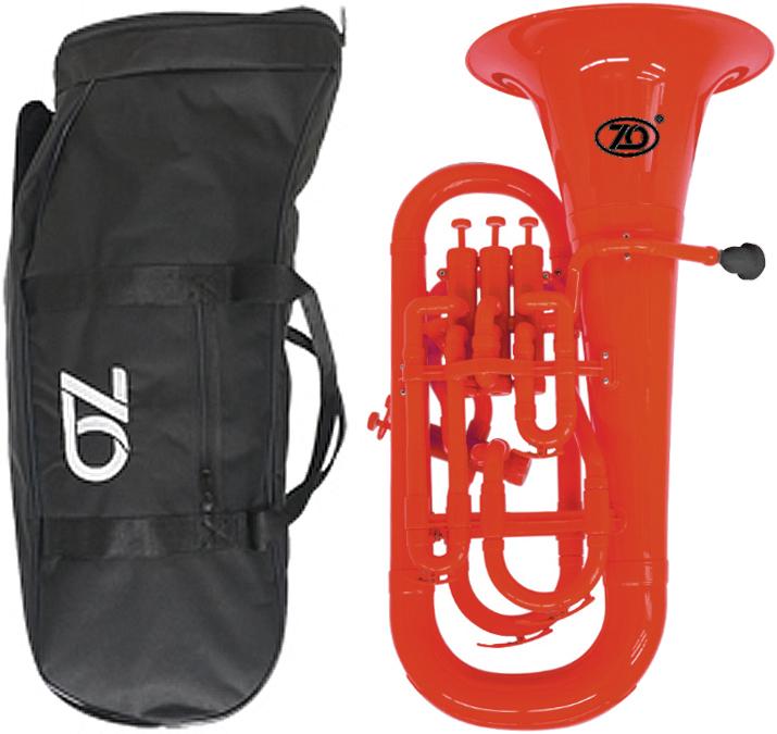 ZO ( ゼットオー ) ユーフォニアム EU-01 レッド 調整品 新品 アウトレット 4ピストン プラスチック製 B♭ 本体 管楽器 樹脂製 赤色 【 EU01 red 楽器 】一部送料追加 送料無料(沖縄/離島/北海道不可)