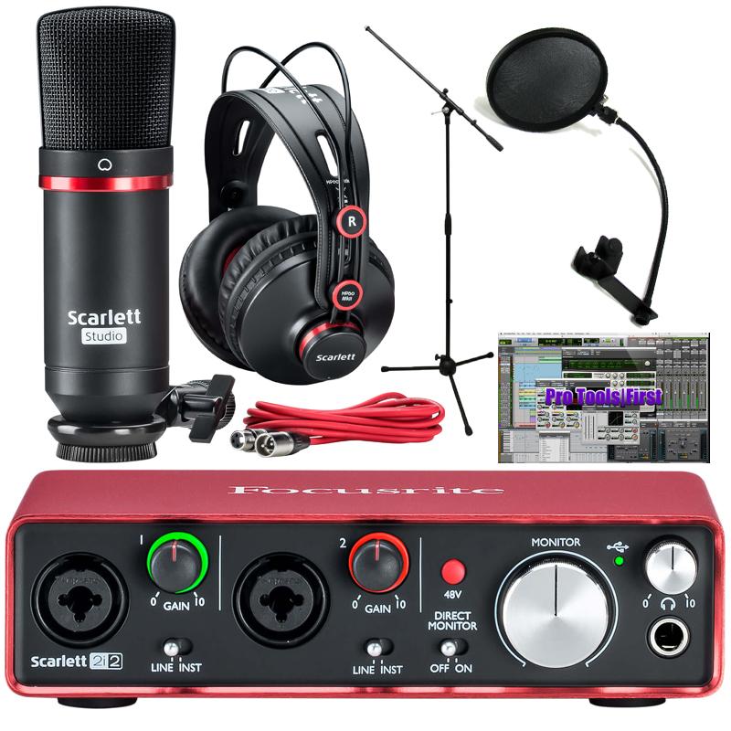 Focusrite ( フォーカスライト ) Scarlett 2i2 Studio Pack G2 plus マイクスタンドセット ◆【国内正規品】 ◆【オーディオインターフェイス】【DTM】【DAW】