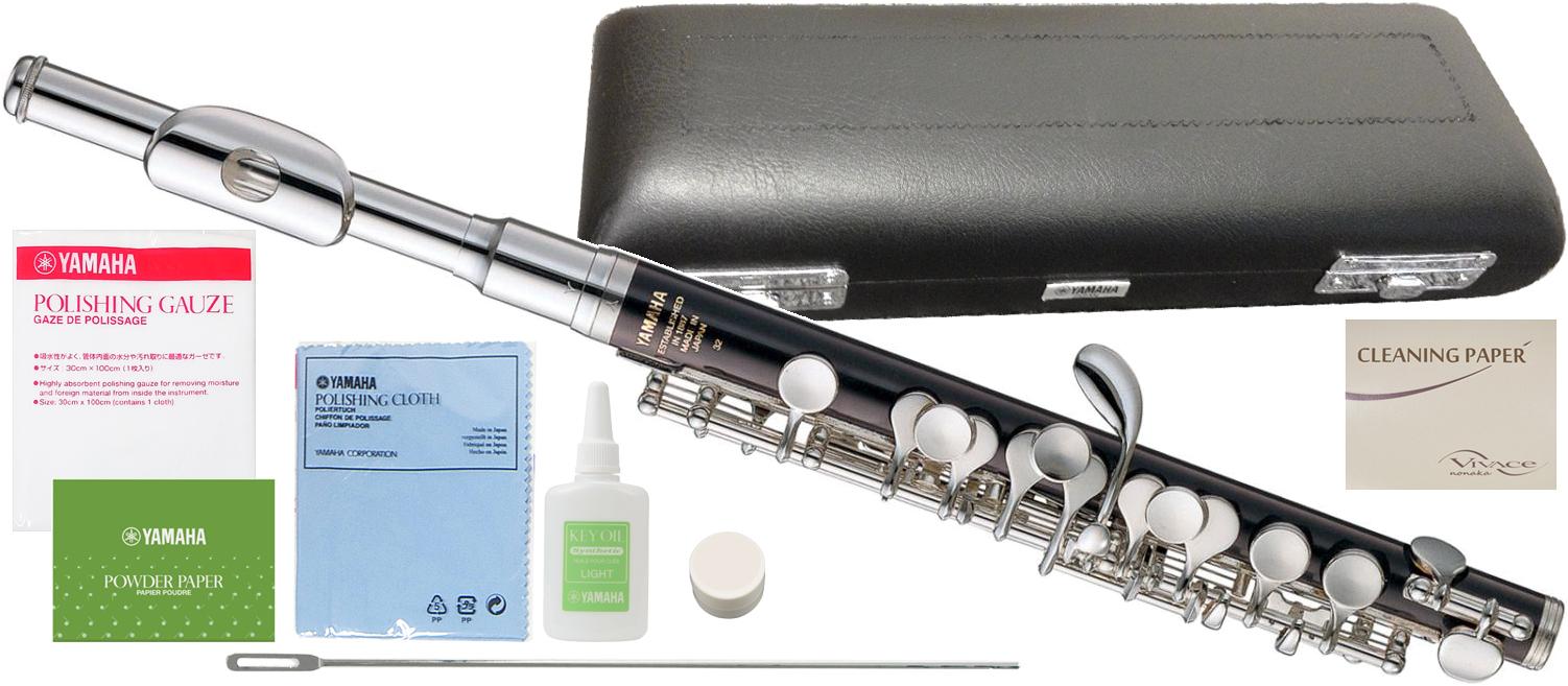 YAMAHA ( ヤマハ ) YPC-32 樹脂製 ピッコロ 新品 管楽器 Eメカ付き スタンダードモデル 主管 ABS樹脂 頭部管 白銅製 【 YPC32 セット A 】 送料無料