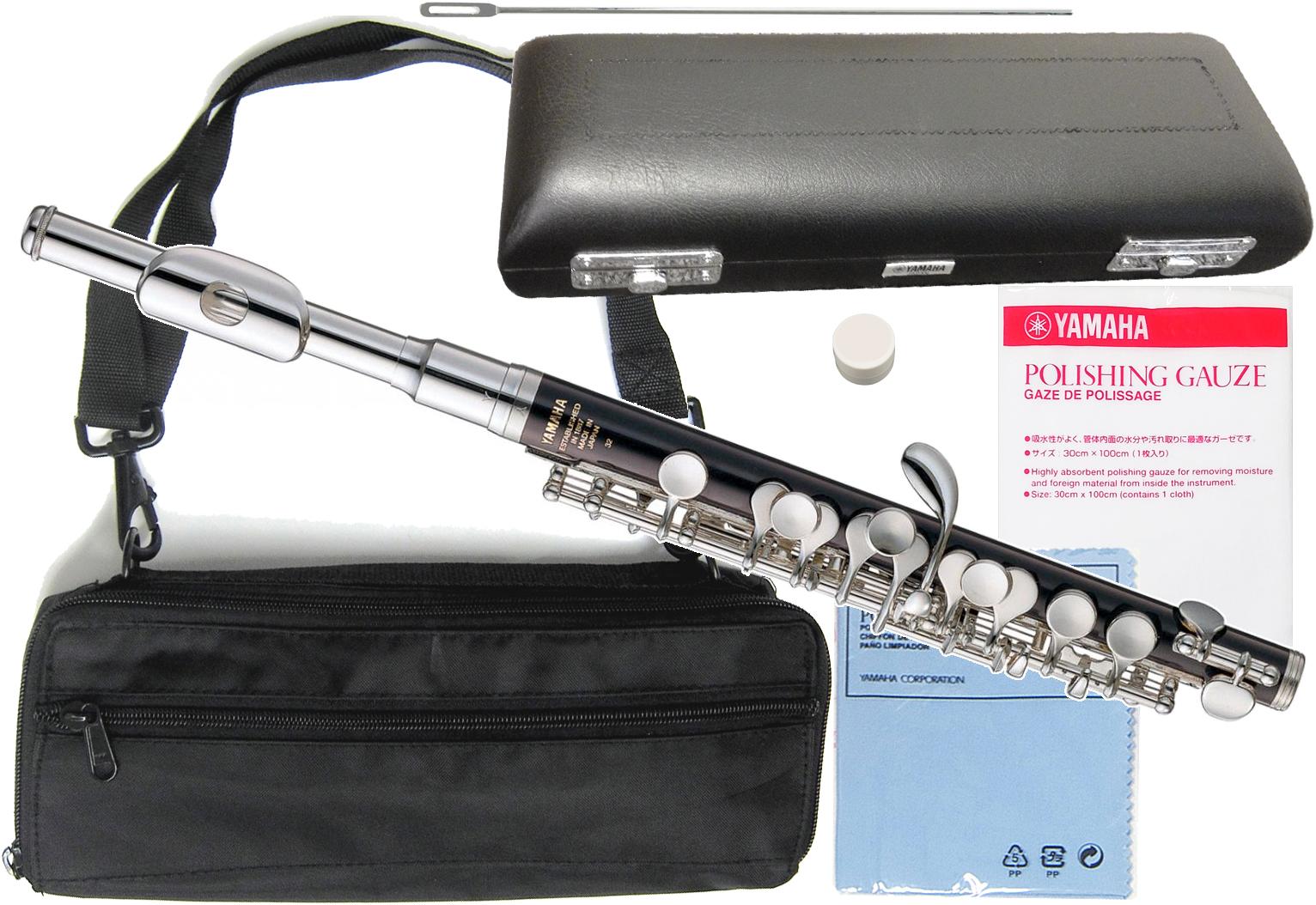 YAMAHA ( ヤマハ ) YPC-32 樹脂製 ピッコロ 新品 管楽器 Eメカ付き スタンダードモデル 主管 ABS樹脂 頭部管 白銅製 【 YPC32 セット C 】 送料無料