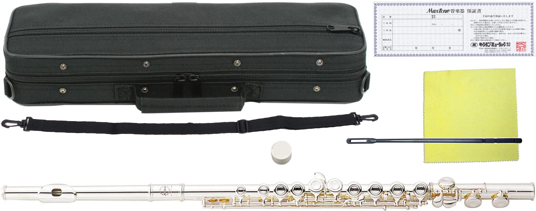 MAXTONE ( マックストーン ) TF-40S フルート 新品 銀メッキ 初心者 管楽器 本体 頭部管 主管 足部管 カバードキイ C管 TF40S silver plated 送料無料