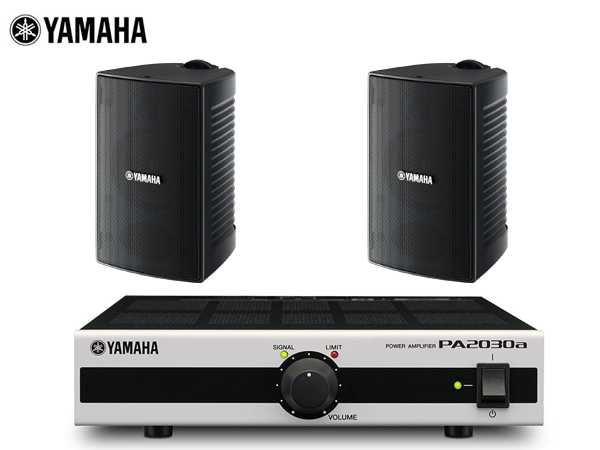 YAMAHA ブラック ( ヤマハ ) VS4 ブラック (1ペア) + series PA2030a ][ 小規模店舗 BGMセット 屋内/野外対応【(VS4x1ペア+PA2030ax1)】 [ VS series ][ 送料無料 ], オオミヤチョウ:83ad11b2 --- sunward.msk.ru