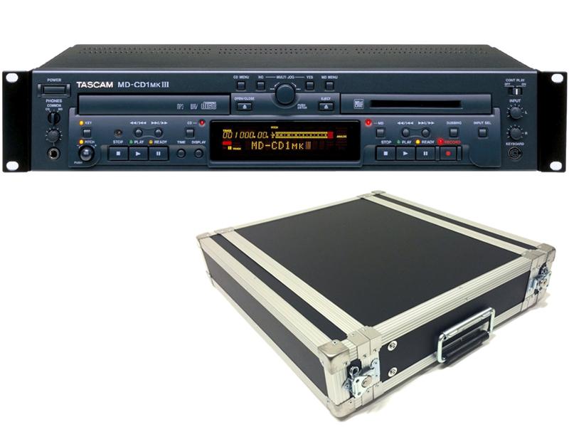 TASCAM ( タスカム ) MD-CD1MK3 と 国産2Uラックケースセット ◆ 業務用 MD デッキ・CDプレーヤー【MD-CD1MKIII H2U D360mm 】 [ 送料無料 ]