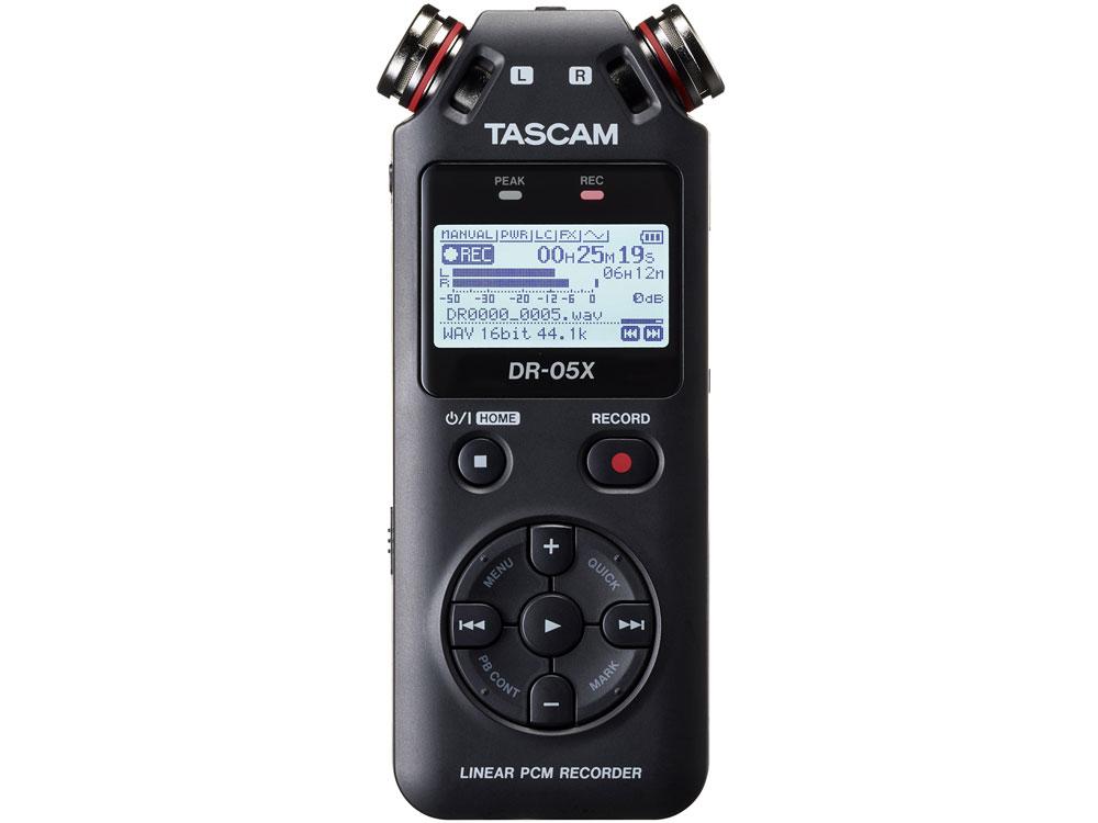 ステレオオーディオレコーダー USBオーディオインターフェース TASCAM 流行 品質保証 タスカム DR-05X 取り寄せ商品 納期数ヶ月以上