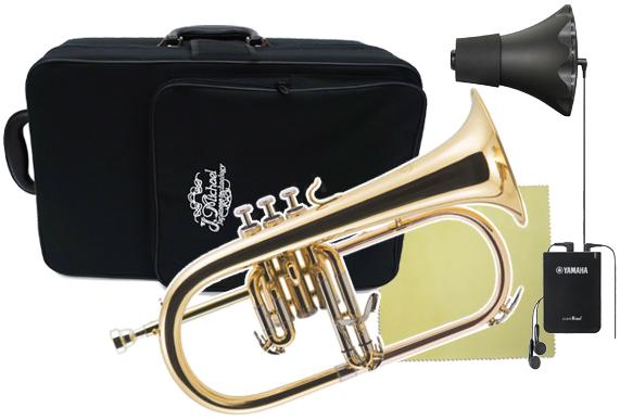 J Michael ( Jマイケル ) FG-500 フリューゲルホルン ヤマハ サイレントブラス SB6X 管楽器 B♭ 管体 ゴールド 本体 Flugel horn FG500 セット B