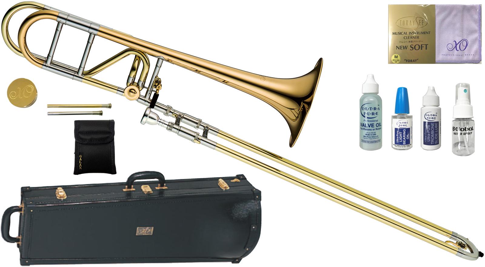 XO ( エックスオー ) 1236RL-O トロンボーン 新品 B♭/F管 テナーバストロンボーン オープンラップ ゴールドブラス 太管 ロータリーバルブ Tenor Bass Trombones UT-GB 送料無料