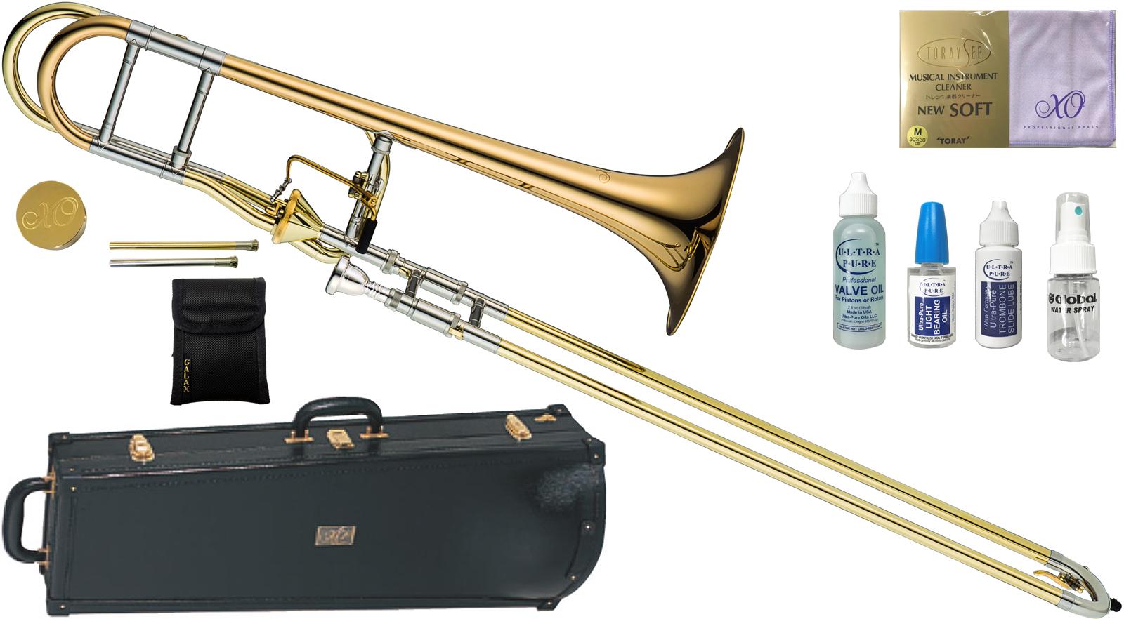 XO ( エックスオー ) 1236RL-T トロンボーン 新品 B♭/F管 テナーバストロンボーン アキシャルフローバルブ ゴールドブラス 太管 Tenor Bass Trombones BT-GB 送料無料