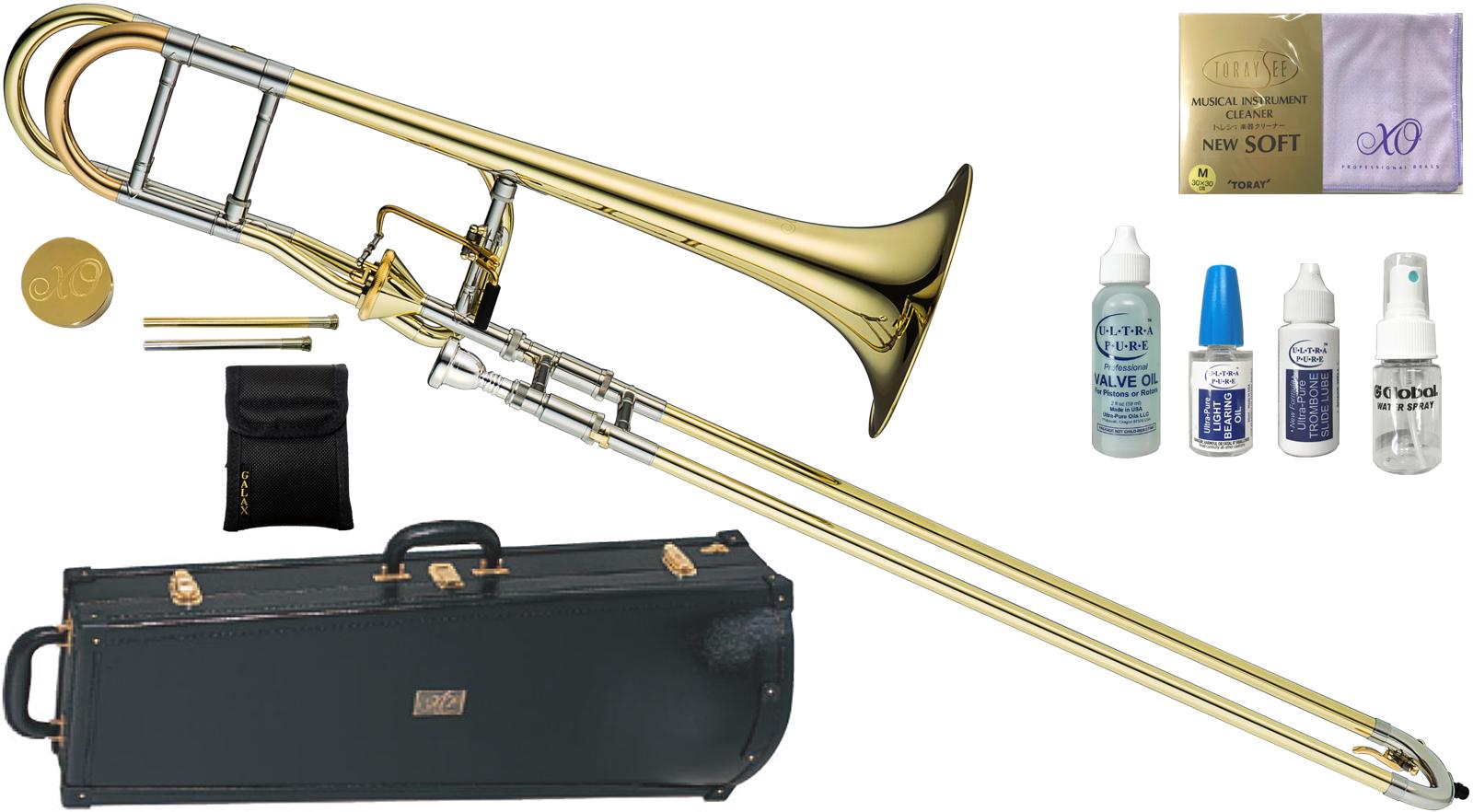 XO ( B♭/F管 エックスオー Trombones BT-L ) 1236L-T トロンボーン 新品 B♭/F管 テナーバストロンボーン アキシャルフローバルブ イエローブラス 太管 Tenor Bass Trombones BT-L 送料無料, 腕時計のセレクトショップカプセル:1e4ef4ea --- officewill.xsrv.jp