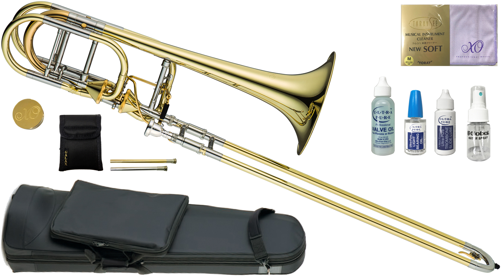 XO ( エックスオー ) 1240L-T トロンボーン 新品 B♭/F/G♭/D管 バストロンボーン アキシャルフローバルブ イエローブラス 太管 Bass Trombones RB-L Axial Flow Valve 送料無料