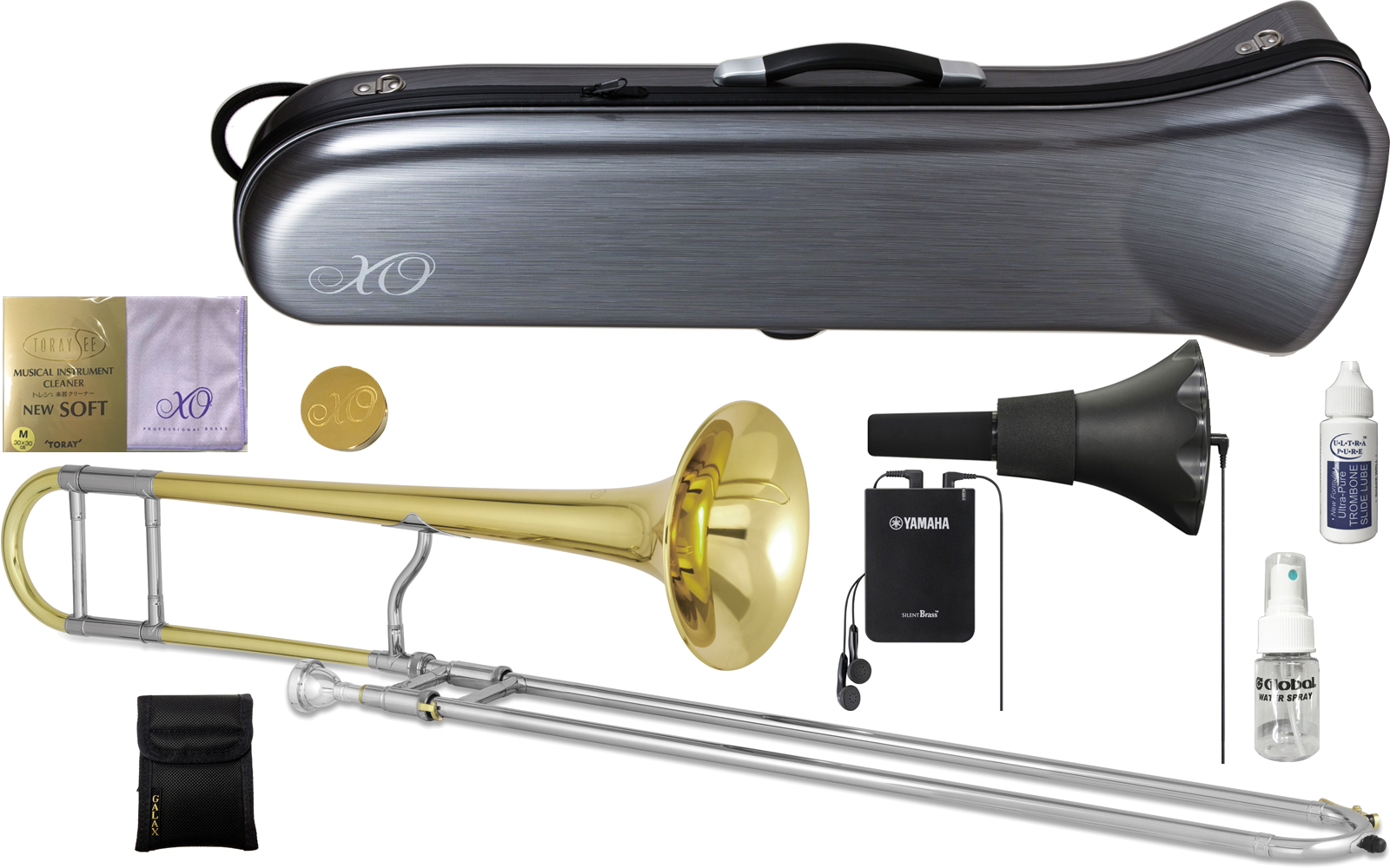 XO ( エックスオー ) 1632GL-LT トロンボーン 新品 B♭ テナートロンボーン イエローブラス ジョンフェチョックモデル 細管 B♭ トロンボーン 管楽器 Tenor Trombones セットB 送料無料
