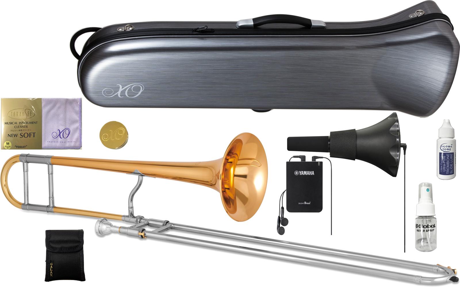 XO ( エックスオー ) 1632RGL-LT トロンボーン 新品 B♭ テナートロンボーン ゴールドブラス ジョンフェチョックモデル 細管 B♭ トロンボーン 管楽器 Tenor Trombones セットB 送料無料