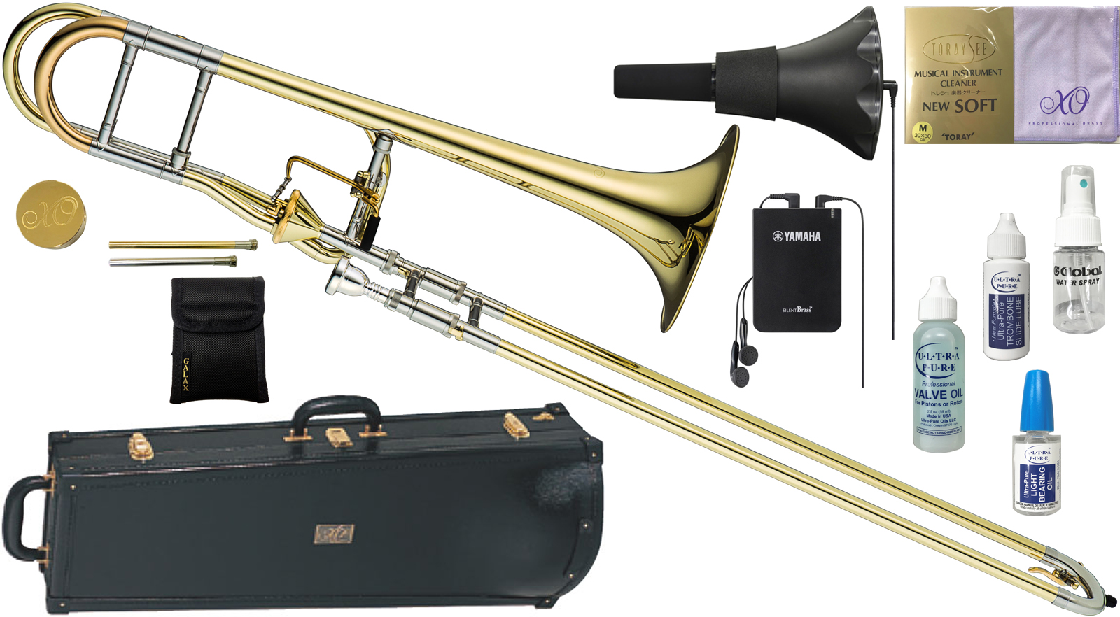 XO ( エックスオー ) 1236L-T トロンボーン 新品 B♭/F管 テナーバストロンボーン アキシャルフローバルブ イエローブラス 太管 Tenor Bass Trombones BT-L セットB 送料無料