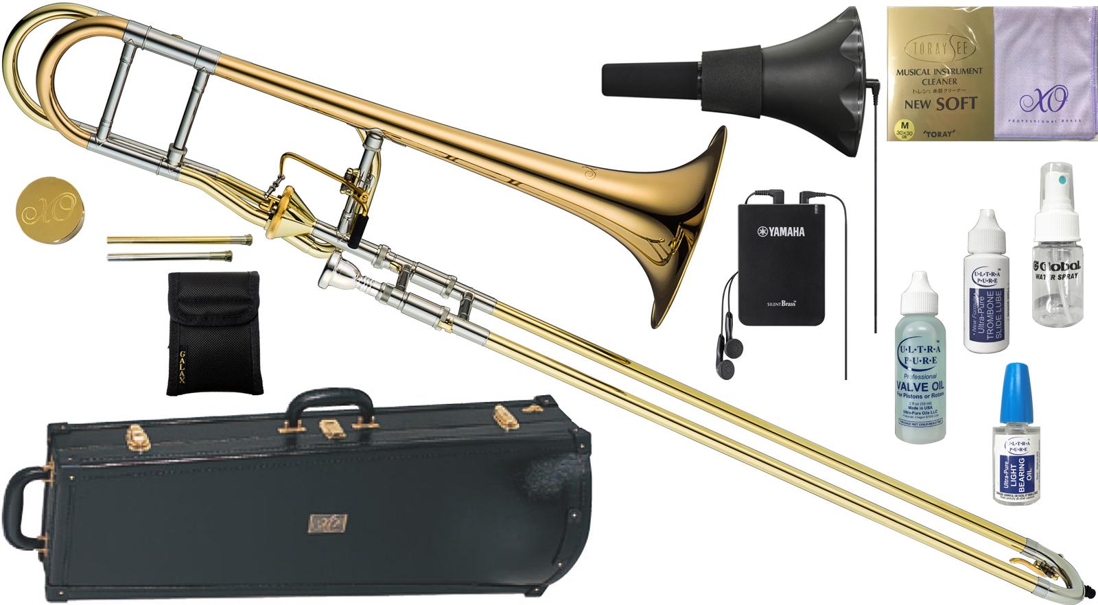 XO ( エックスオー ) 1236RL-T トロンボーン 新品 B♭/F管 テナーバストロンボーン アキシャルフローバルブ ゴールドブラス 太管 Tenor Bass Trombones BT-GB セットB 送料無料