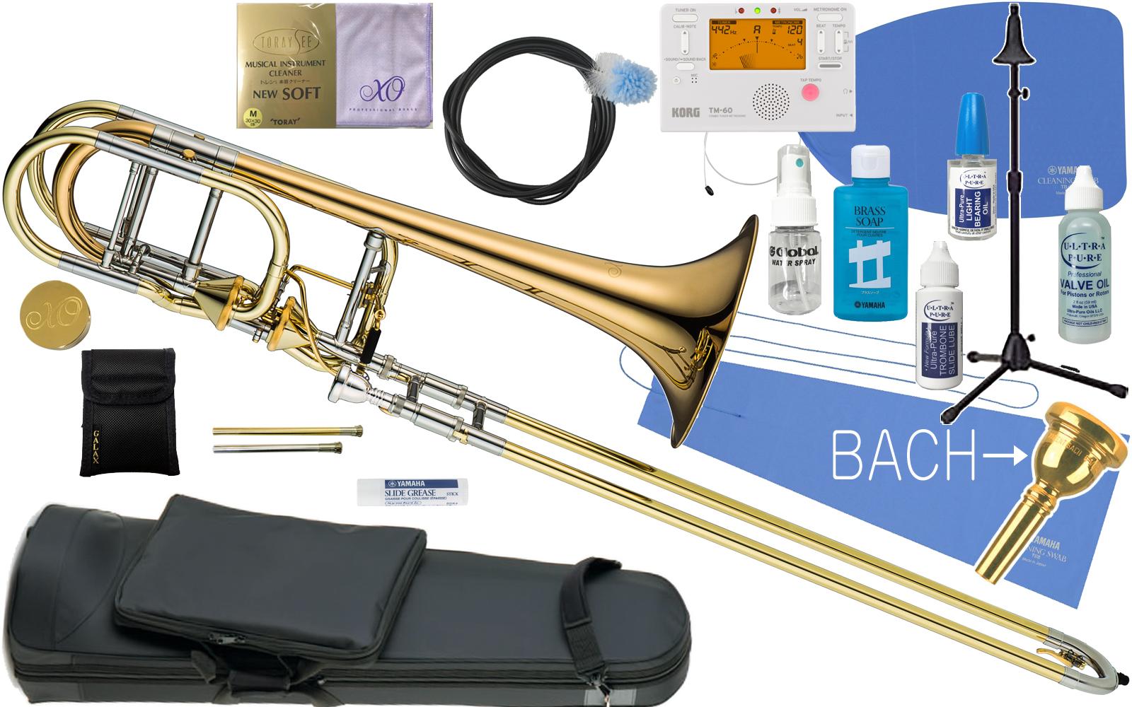 XO ( エックスオー ) 1240RL-T トロンボーン 新品 B♭/F/G♭/D管 バストロンボーン アキシャルフローバルブ ゴールドブラス 太管 Bass Trombones RB-GB Axial Flow Valve セットA 送料無料