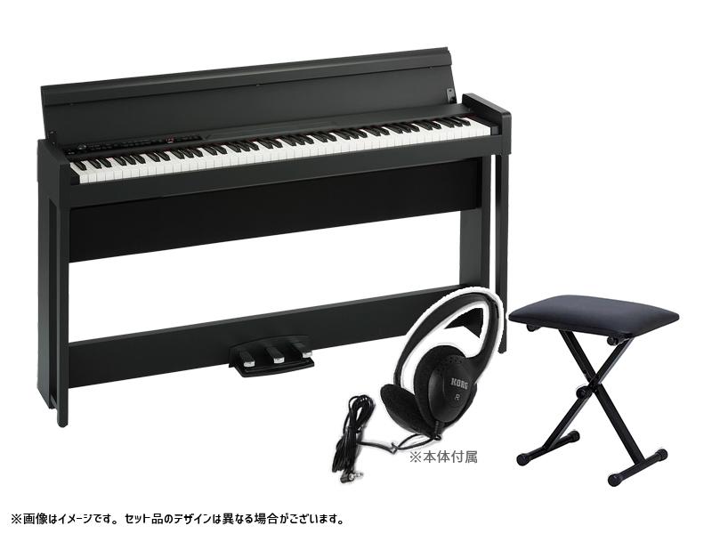 KORG ( コルグ ) C1 Air-BK キーボードベンチセット ◆【デジタルピアノ】