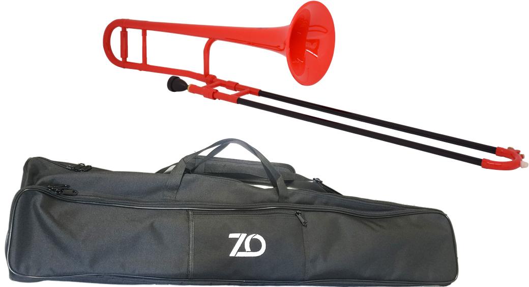 プラスチックトロンボーン B♭ 樹脂製 セール特別価格 デュアル TTB01 ZO ゼットオー TTB-01 トロンボーン レッド 細管 新品 プラスチック tenor 沖縄 trombone アウトレット 管楽器 人気 おすすめ 北海道 テナートロンボーン red 離島不可