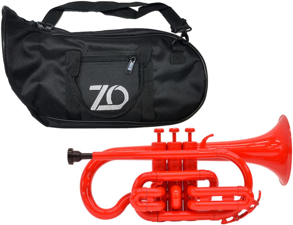 ZO ( ゼットオー ) コルネット CN-01 レッド 調整品 新品 アウトレット プラスチック 管楽器 cornet Red 楽器 北海道 沖縄 離島不可