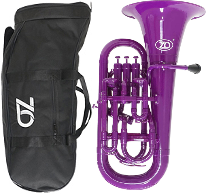 プラスチックユーフォニアム Bフラット Euphonium マウスピース ZO ゼットオー ベルキズあり ユーフォニアム EU-04 希望者のみラッピング無料 パープル 開催中 調整品 新品 purple 管楽器 樹脂製 アウトレット 紫色 B♭ 北海道 離島不可 4ピストン プラスチック 沖縄