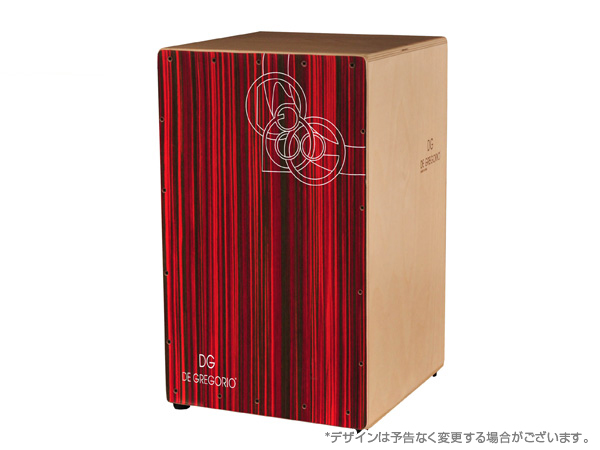 DeGregorio ( DG ) BRAVO MEDIUM [ RED MAKASSAR ]CAJON カホン ◆ DVD付 ドラム パーカッション