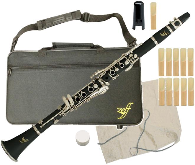 ZEFF ( ゼフ ) ZCL-30 クラリネット 新品 樹脂製 B♭ 本体 初心者 管楽器 プラスチック製 管体 リード マウスピース 楽器 clarinet ZCL30 セット B