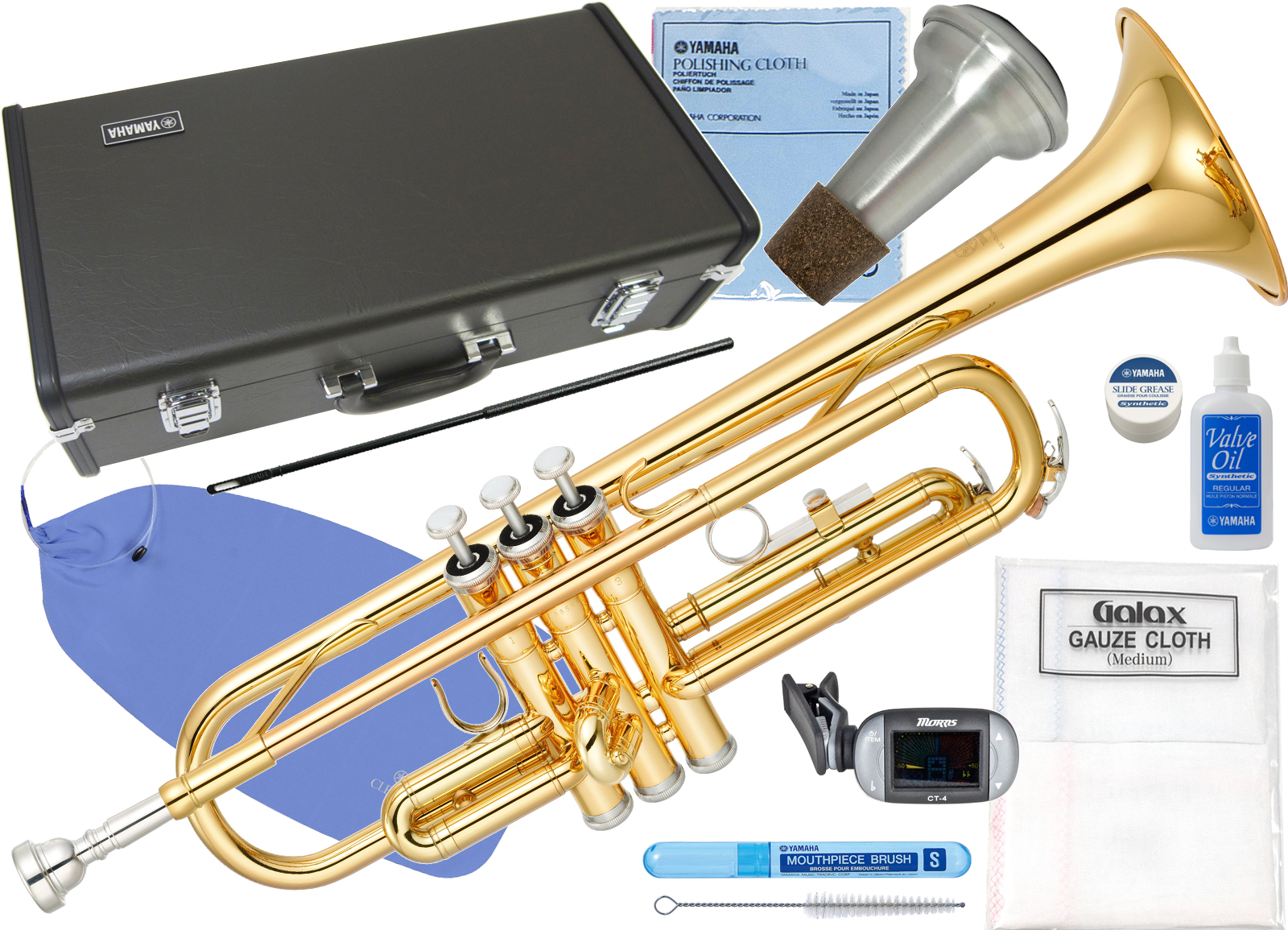 YAMAHA ( ヤマハ ) YTR-2330 トランペット 新品 本体 ゴールド 管楽器 管体 B♭ 初心者 スタンダード 【 YTR2330 セット F】 送料無料
