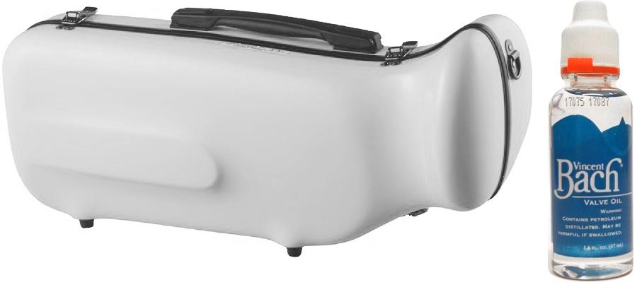 CCシャイニーケース CC2-TP-WH トランペットケース ホワイト ハードケース トランペット用 リュックタイプ 管楽器 シングル ケース 白色 セット K 送料無料