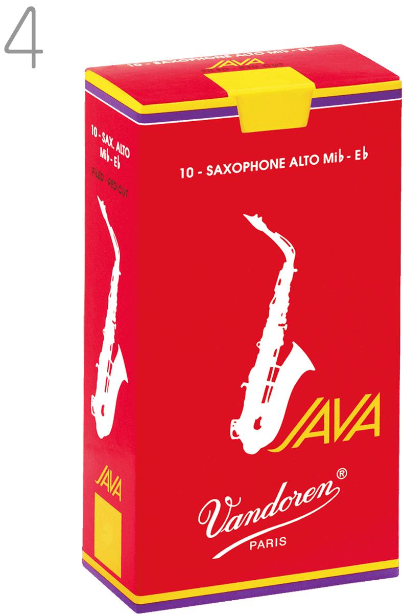 made in france 正規品 アルトサックスリード 商店 赤箱 vandoren バンドーレン SR264R アルトサックス ジャバ ファイルド レッドカット 1箱 アルト 10枚入り saxophone reed 市場 バンドレン RED JAVA 4番 リード FILED alto CUT