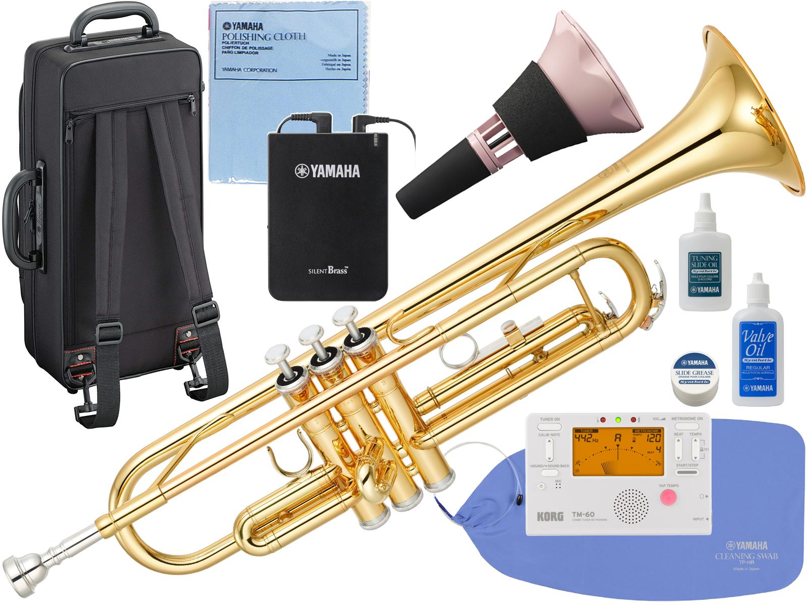 YAMAHA ( ヤマハ ) YTR-3335 トランペット リバース管 ゴールド 1本支柱 管楽器 B♭ 正規品 YTR-3335-01 Trumpet サイレントブラス SB7XP セット 北海道 沖縄 離島 不可