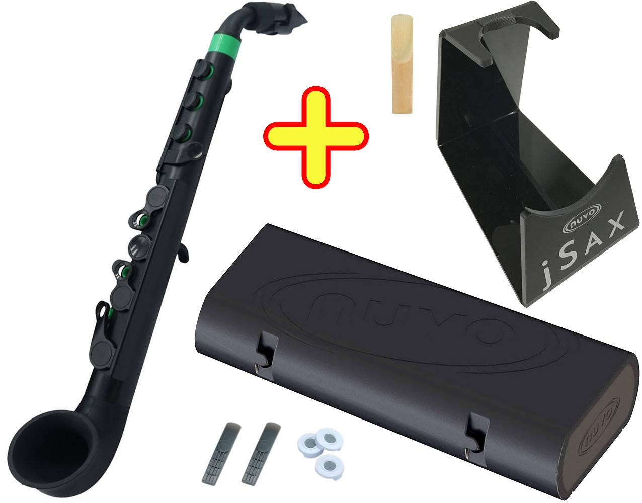 NUVO ( ヌーボ ) jSAX ブラック グリーン N510JBGN N520 プラスチック製 管楽器 サックス系 リード楽器 本体 サクソフォン 黒色 緑色 Green 【 jサックス BK/GN セット H】 送料無料